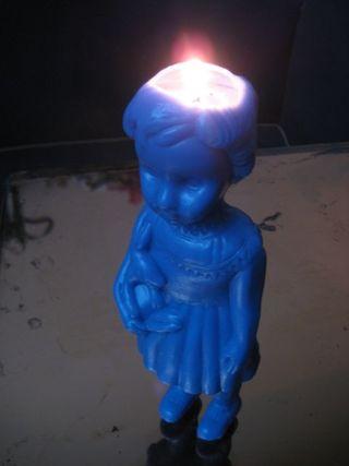 Bougie clo bleue