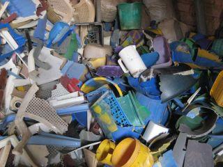 Stock de vieux plastic
