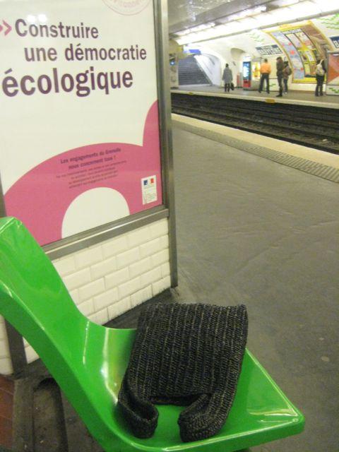 Sac de caisse noir métro