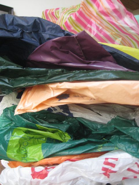 Pile de sacplastic
