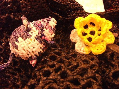 Souris et fleur