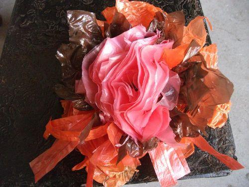 Fleur rose orange