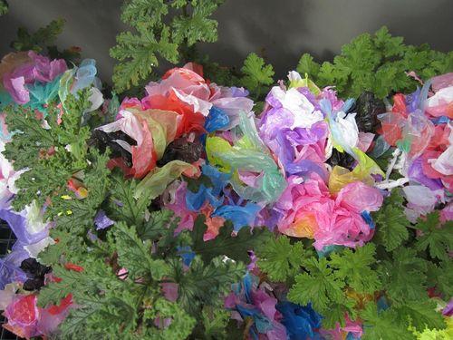 Buisson fleursplastic