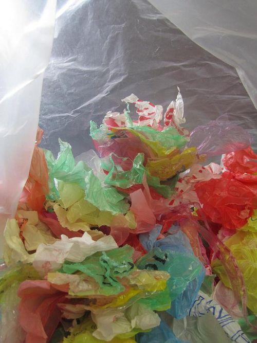 Dans un sac plastic