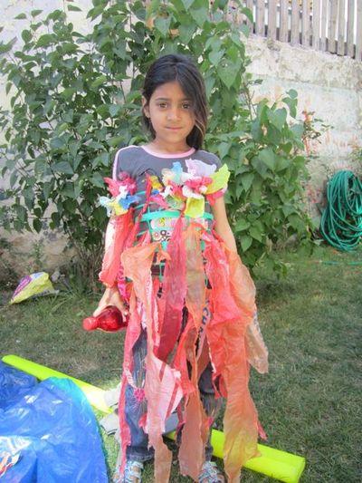 Costume de princesse-poubelle