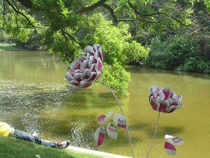 Fleurs recyclées