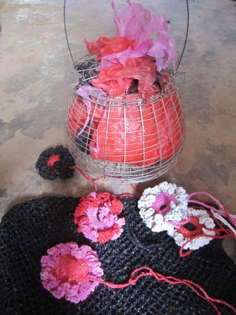 Accessoires rose et rouge