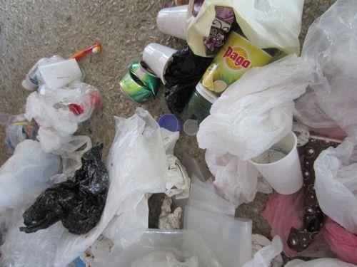 Déchets plastic intrus