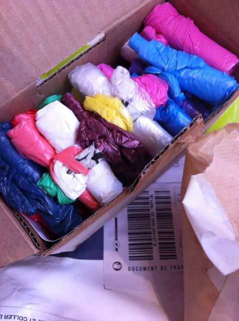 Petit paquet de sachets enroulés