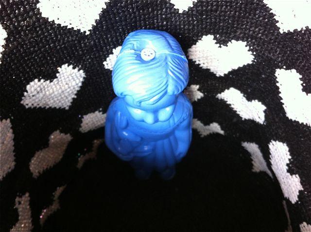 Clo bleu fond coeurs