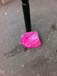 Sacpoubelle rose rue